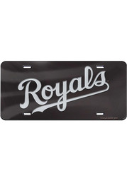 Kansas City Royals Black/Silver Jersey Logo Car Accessory License Plate