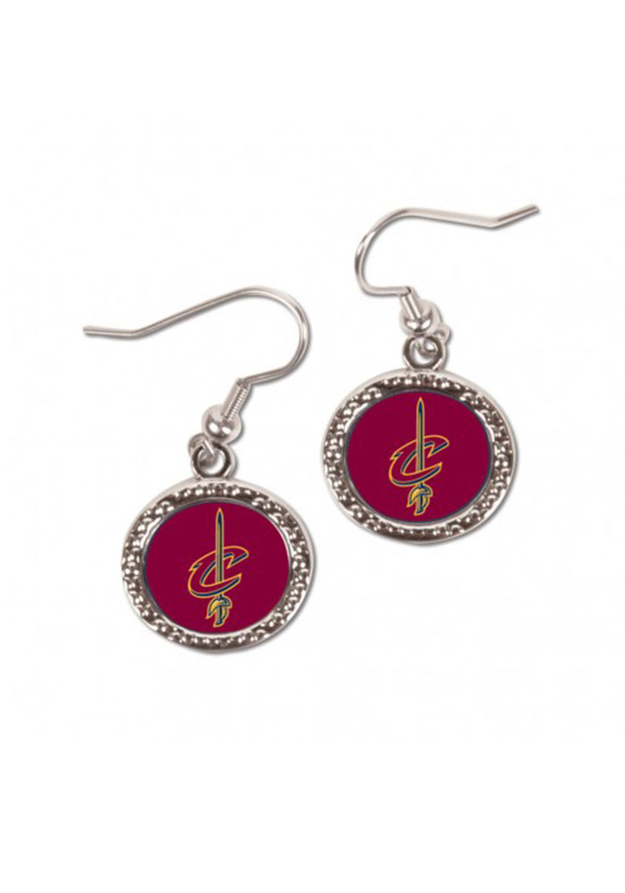 Cleveland Cavaliers Hammered Dangle Womens Earrings - Image 1