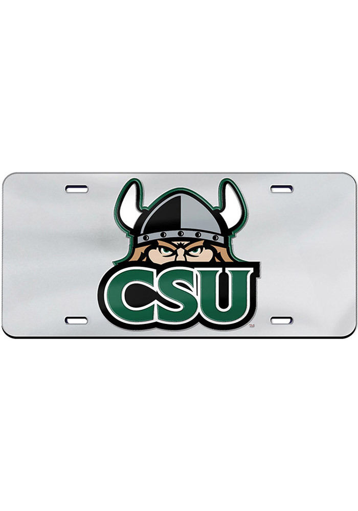 Cleveland State Vikings Team Logo Inlaid Car Accessory License Plate - Image 1