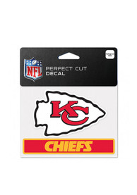 Kansas City Chiefs Team Name Perfect Cut Auto Decal - Red