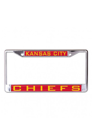 Kansas City Chiefs Team Name Inlaid License Frame