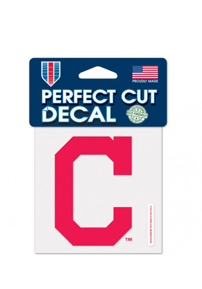 Cleveland Indians Perfect Cut Auto Decal - Red - Image 1