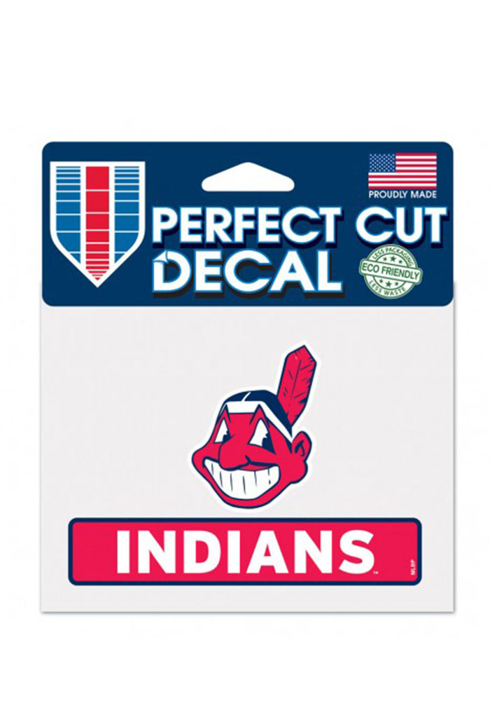 Cleveland Indians Team Name Perfect Cut Decal - Image 1
