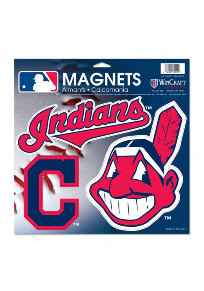Cleveland Indians Multi Pack Car Accessory Car Magnet - Image 1