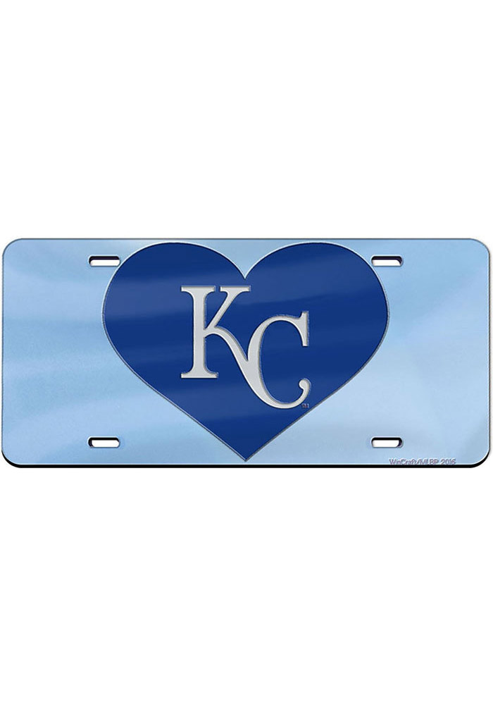 Kansas City Royals Heart with Logo Car Accessory License Plate