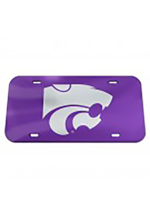 K-State Wildcats Crystal Mirror Purple Car Accessory License Plate