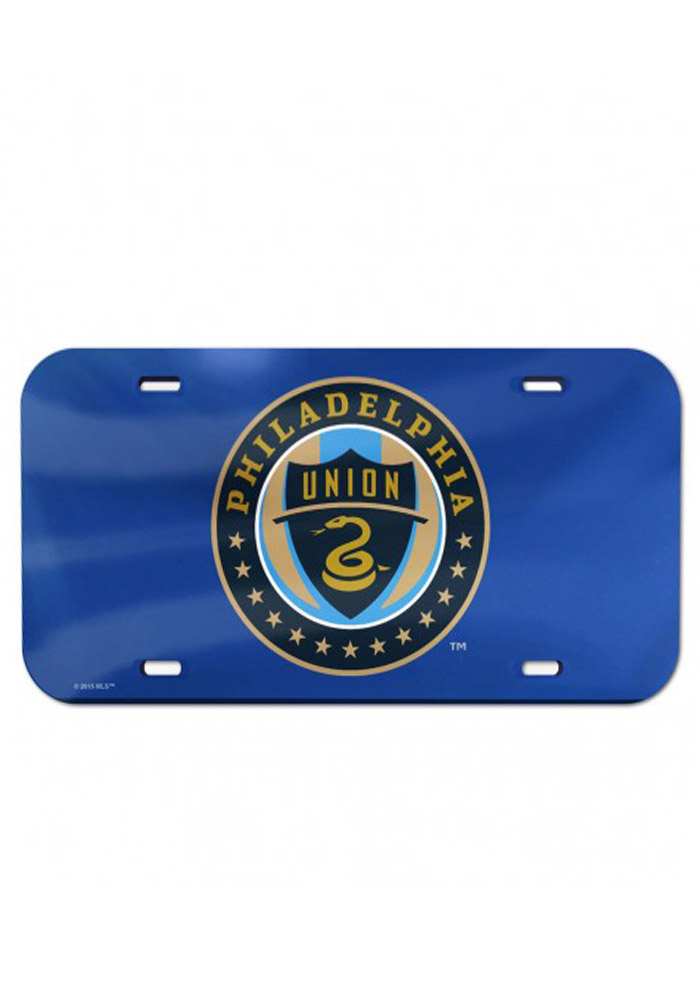 Philadelphia Union Team Logo Navy Inlaid Car Accessory License Plate - Image 1