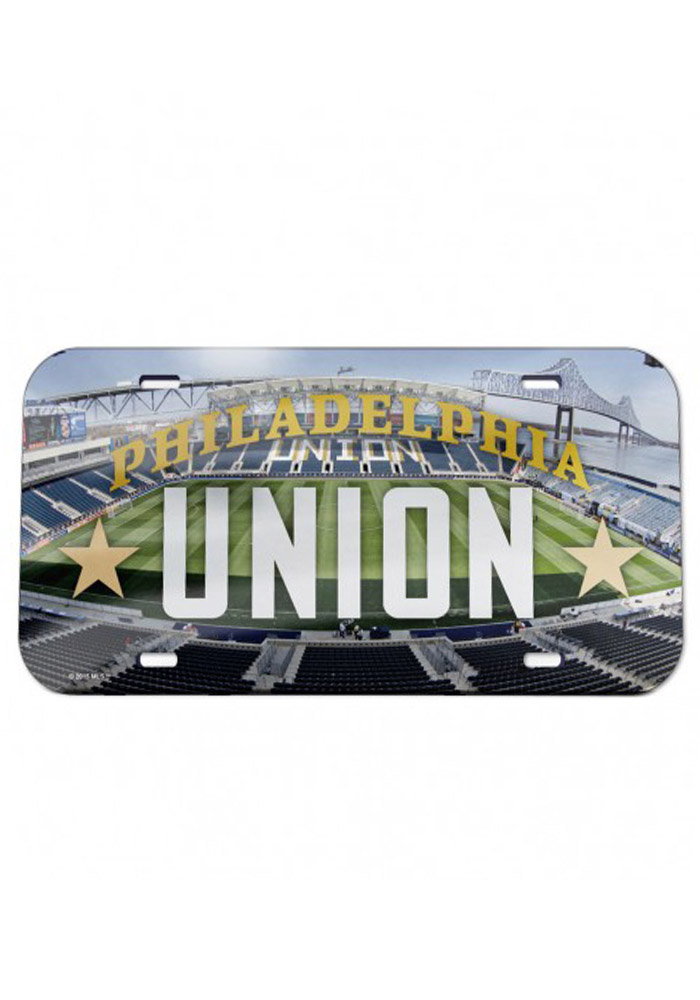 Philadelphia Union Stadium Crystal Mirror Car Accessory License Plate
