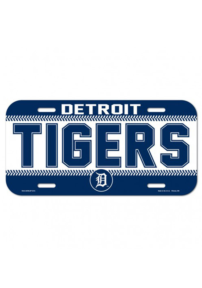 Detroit Tigers Team Name Plastic Car Accessory License Plate 5713828