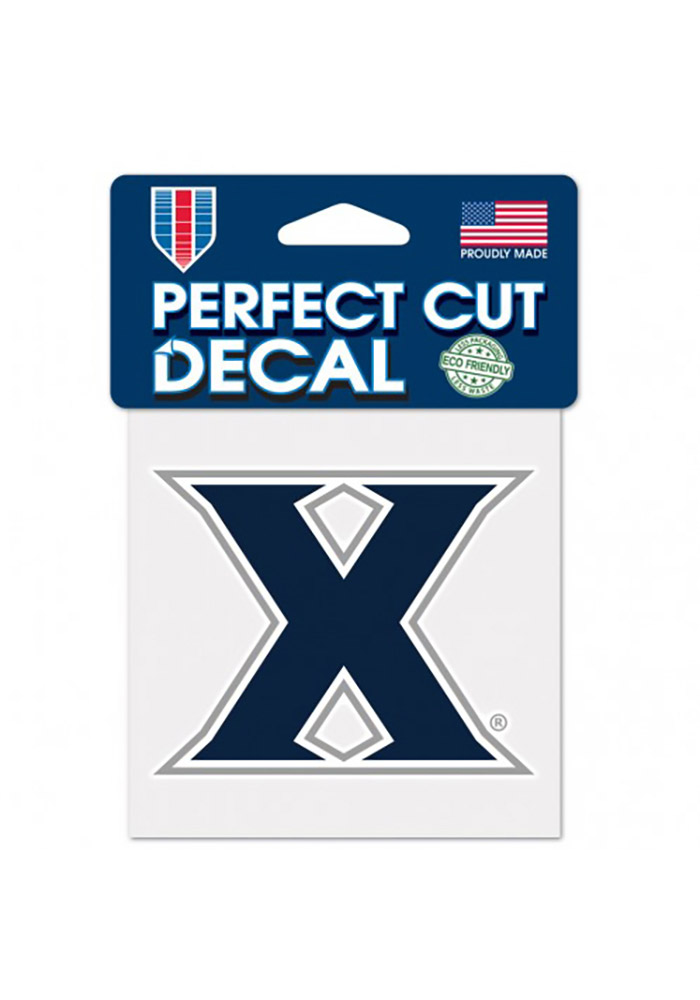 Xavier Musketeers 4x4 Perfect Cut Auto Decal - Navy Blue