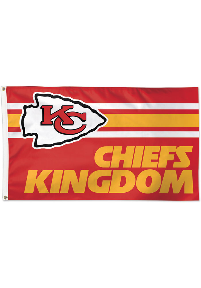 Kansas City Chiefs Chiefs Kingdom Grommet Red Silk Screen Grommet Flag - Image 1