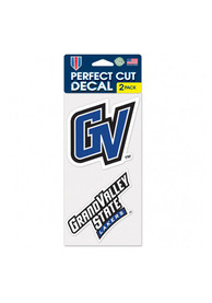 Grand Valley State Lakers 2 Pack Perfect Cut Auto Decal - Blue