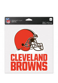 Cleveland Browns Perfect Cut Auto Decal - Orange