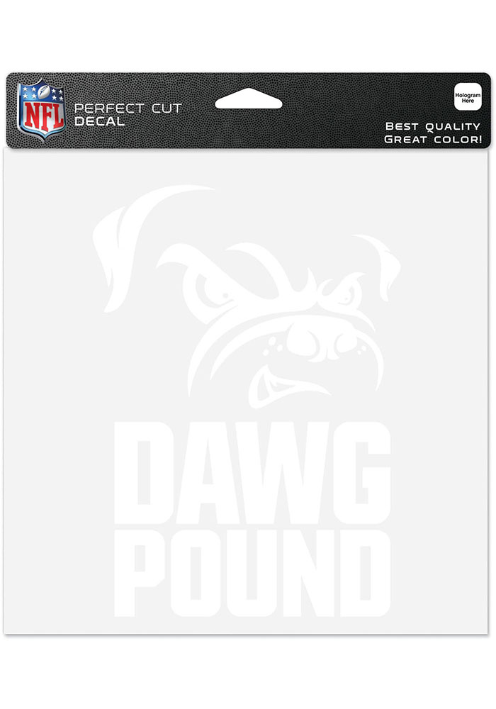 Cleveland Browns Dawg Pound Auto Decal - White - Image 1