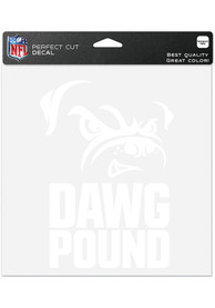 Cleveland Browns Dawg Pound Auto Decal - White