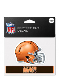Cleveland Browns Team Name Perfect Cut Auto Decal - Orange