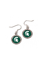Michigan State Spartans Hammered Dangle Womens Earrings