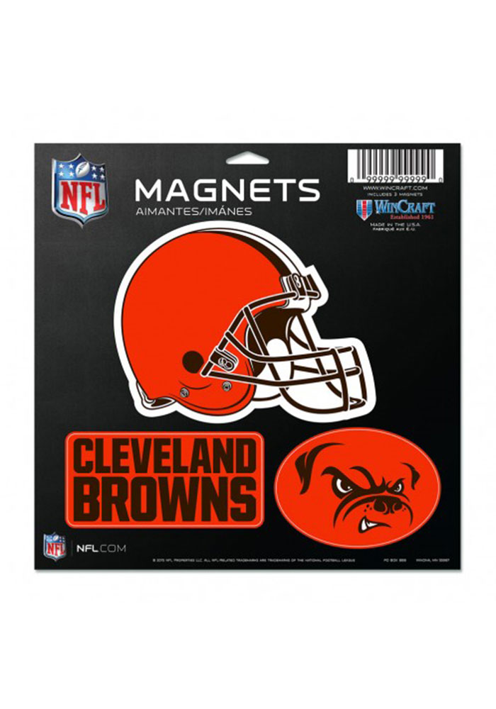 Cleveland Browns Multi Pack Car Accessory Car Magnet - Image 1