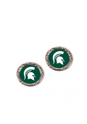 Michigan State Spartans Hammered Post Womens Earrings