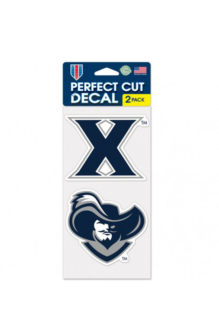 Xavier Musketeers 4x4 2 Pack Auto Decal - Navy Blue
