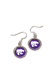 K-State Wildcats Hammered Dangle Womens Earrings