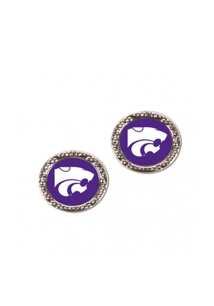 K-State Wildcats Hammered Post Womens Earrings