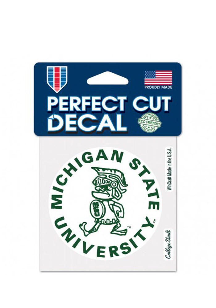 Michigan State Spartans 4x4 College Vault Logo Decal - Image 1