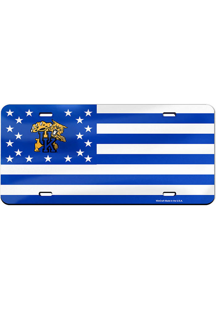Kentucky Wildcats Stars and Stripes Glossy Car Accessory License Plate - Image 1