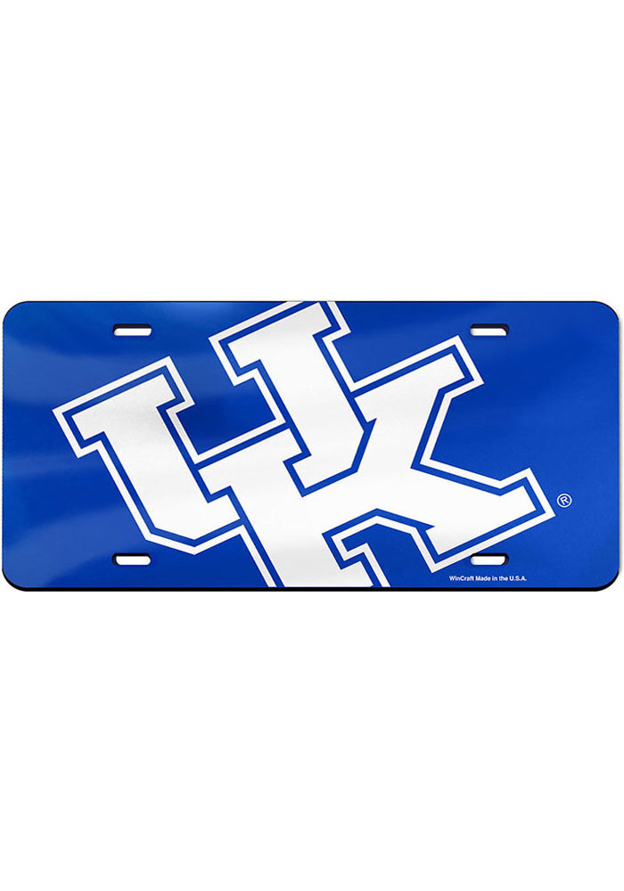 Kentucky Wildcats Mega Logo Glossy Car Accessory License Plate - Image 1