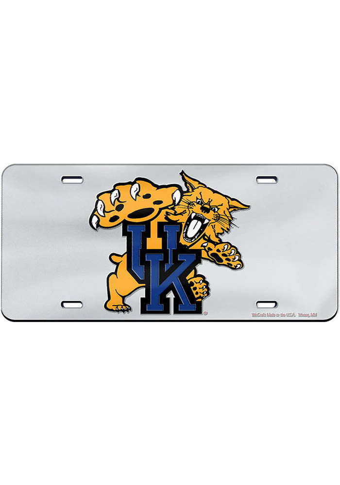 Kentucky Wildcats Mascot Inlaid Car Accessory License Plate - Image 1