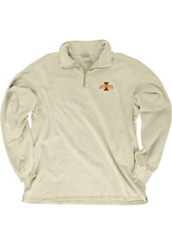 Iowa State Cyclones Womens Dyed Ringspun 1/4 Zip Pullover - Ivory