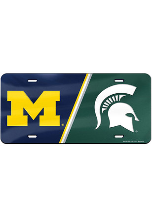 Michigan and Michigan State House Divided License Plate