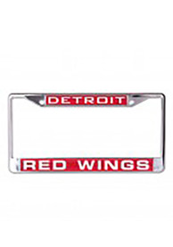 Detroit Red Wings Chrome Inlaid License Frame