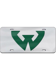 Wayne State Warriors Team Logo Inlaid Car Accessory License Plate