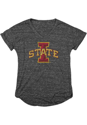 Iowa State Cyclones Womens Grey Confetti V-Neck