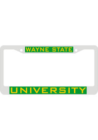 Wayne State Warriors Team Name Inlaid License Frame