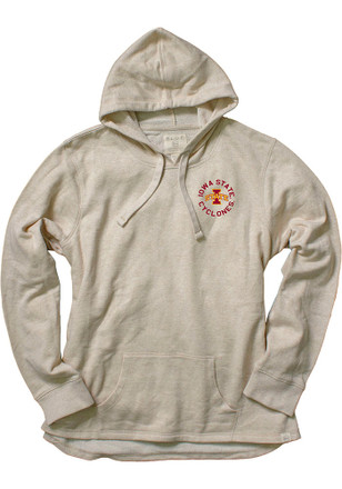 Iowa State Cyclones Womens Oatmeal Pullover Hoodie