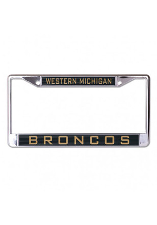 Western Michigan Broncos Team Name Inlaid License Frame