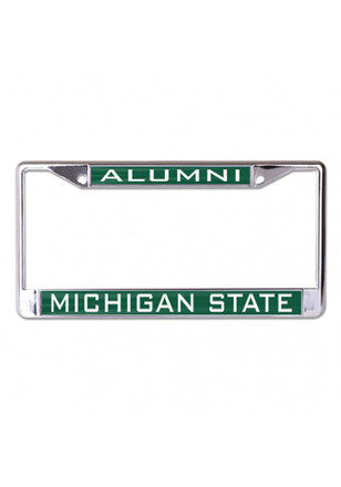 michigan state spartans alumni inlaid license frame