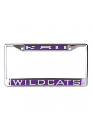 K-State Wildcats Team Name Inlaid License Frame