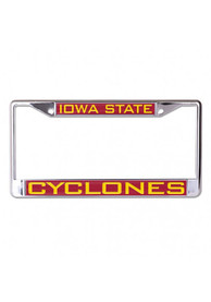 Iowa State Cyclones Team Name Inlaid License Frame