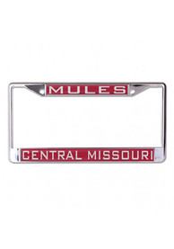 Central Missouri Mules Team Name Inlaid License Frame