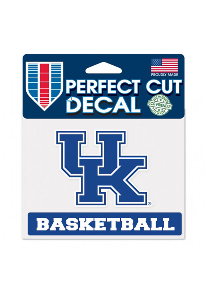 Kentucky Wildcats Basketball Auto Decal - Blue - Image 1