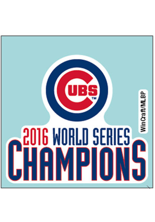 Chicago Cubs 2016 World Series Champions Decal