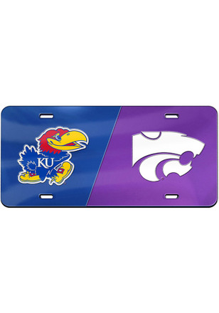 Kansas Jayhawks and K-State Wildcats House Divided License Plate