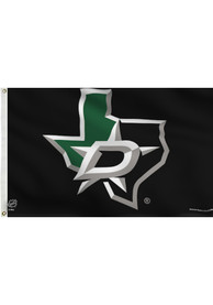 Dallas Stars Deluxe Team Logo Black Silk Screen Grommet Flag