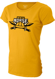 Northern Kentucky Norse Womens Mascot Gold T-Shirt