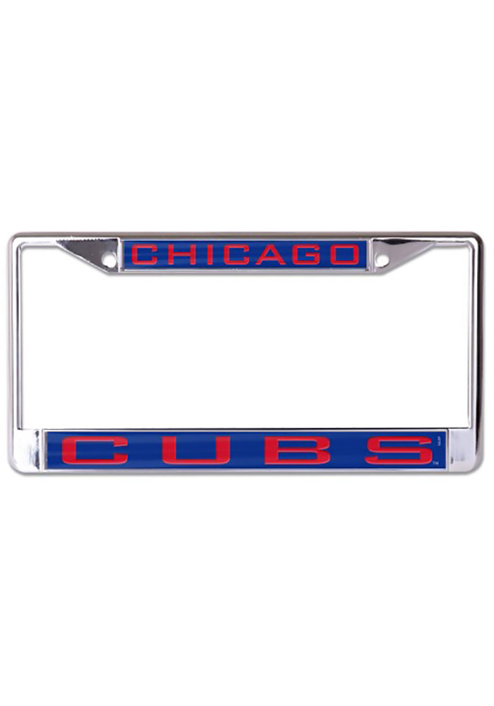 Chicago Cubs Inlaid Metal License Frame - Image 1