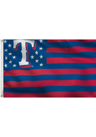 Texas Rangers Stars and Stripes Blue Silk Screen Grommet Flag
