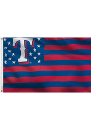 Texas Rangers Stars and Stripes Silk Screen Flag